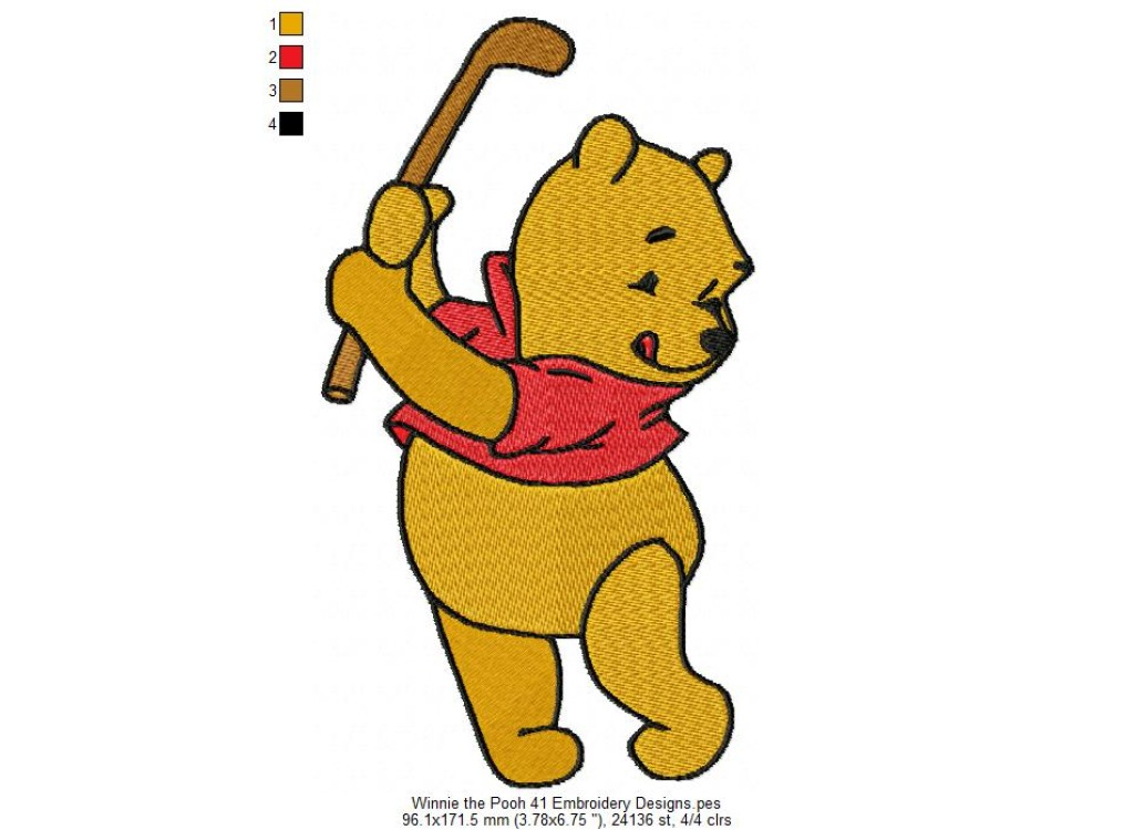 Winnie The Pooh 41 Embroidery Designs